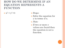 how do we determine if an equation represents a function