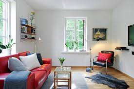 Living Rooms For Small Space Living Room Small Living Room Design Idea With Leather Sofa And