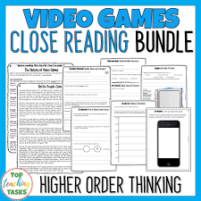 Video Games Reading Comprehension Passages And Questions Bundle