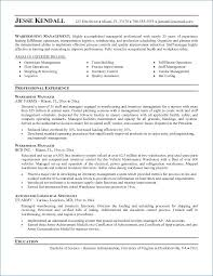 Logistics Manager Resume New Sample Resume Warehouse Manager Pour