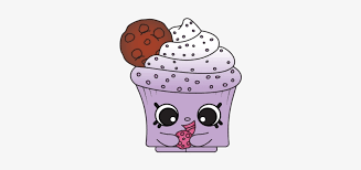 Cookie Creamy Cookie Cupcake Shopkin 400x400 Png Download Pngkit