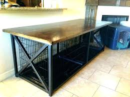 coffee table dog crate kennel table coffee table dog crate coffee table dog crate s side