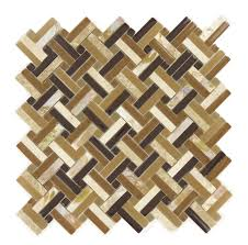 turtle bay basketweave glass stone and shell tile