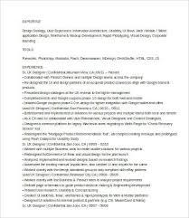 Ux Designer Resume Impressive Ux Designer Resume 28 Free Word PDF Documents Download Free