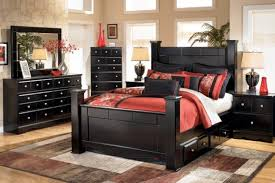 shay queen size poster bedroom set w underbed storage home saveenlarge