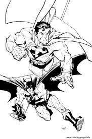 Dual color justice league superman comic book superhero   etsy. Superman And Batman Coloring Page Coloring Pages Printable Who Doesn T Know Batman Maybe All Dc Fans And Superhero Movie Fans Must Have Heard At Least This Ba
