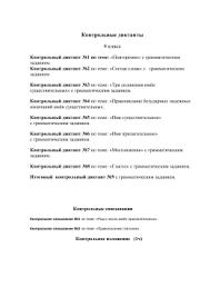 Контрольный диктант класс Обезьяны  Контрольный диктант №2