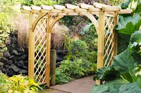 pergolas and arches for gardens forest garden arches