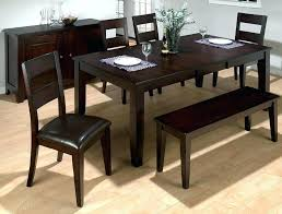 table sets with bench dining table chairs and bench set modern style dining room table sets