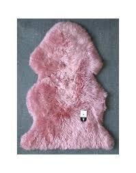 pink sheepskin rug pure wool sheepskin rugs pink wool rug