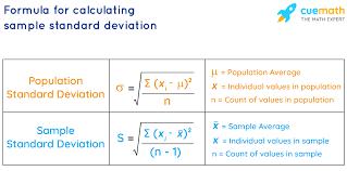 Formula to calculate sample standard deviation - Cuemath