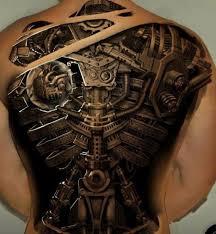 Skutečný Směr V Tetování Je Steampunk Vlastnosti Stylu