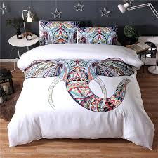 king size bedding sets clearance black white bohemian elephant print duvet cover set 2 single double king duvet cover sets with bed