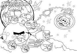 Angry Birds Colouring Pages Angry Bird