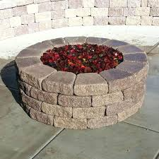 backyard fire pit red rocks glass home depot canada pits