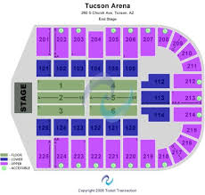 Tucson Convention Center Arena Seating Chart Tucson Convention Center Tickets And Tucson Convention