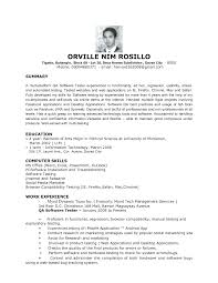 ... Software Testing Resume Samples for 1 Year Experience Elegant Qa Tester  Resume ...