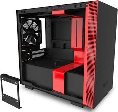 Red Pc Case Lighting Nzxt H210i Mini Itx Pc Gaming Case Front I O Usb Type C Port Tempered Glass Side Panel Cable Managem