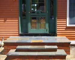 front door stepsExteriors  Dazzling Front Steps Design Ideas Including Grey Color