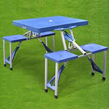 new portable folding picnic table with chairs bbq camping outdoor garden set portable folding picnic table p35