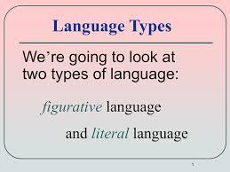 literal language figurative language powerpoint