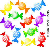 candy clipart. Brilliant Candy Candy  Vector Illustration Of Many Colorful Candies And Inside Candy Clipart A