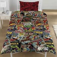 Marvel Comics Single Duvet Cover Bed Set POLYCOTTON Avengers Xmen ... & Image is loading Marvel-Comics-Single-Duvet-Cover-Bed-Set-POLYCOTTON- Adamdwight.com
