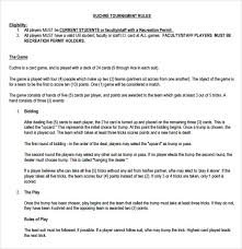 Sample Euchre Score Card Template 5 Free Documents