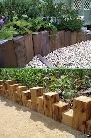 wood block garden edging 20 creative