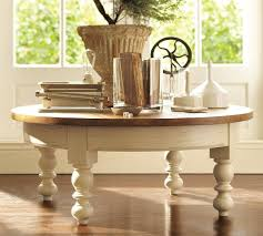 pottery barn round coffee table coffee table regarding antique glass pottery barn coffee tables