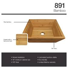 Bamboo Bathroom Sink Mr Direct 891 Bamboo Vessel Bathroom Sink Amazoncom