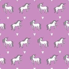 Unicorn Purple Girls Cute Design For Little Girls Unicorn Fabric