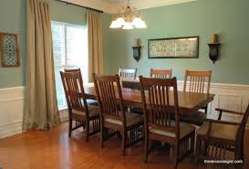 I Dining Room With Green Paint Colors And Wooden Furniture Hardwood Floors