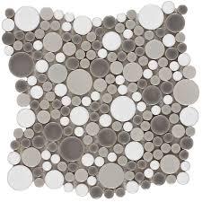 Circle Tiles Shop Elida Ceramica Rounded Blend Circular Mosaic Porcelain Wall