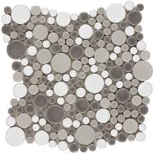elida ceramica rounded blend circular mosaic porcelain wall tile common 11 in x
