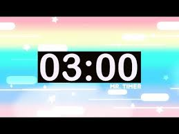3 Minute Timer With Music For Kids Countdown Videos Hd Youtube
