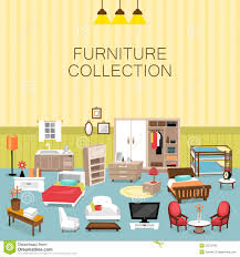 variety bedroom furniture designs. Design Element And Furniture Collection For Home Interior Stock Vector - Illustration Of Carpet, Flower: 55512422 Variety Bedroom Designs