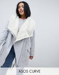 Asos Design Waterfall Parka With Borg Liner Design Curve Waterfall Parka With Borg Liner A Clothes