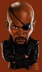 nick fury caricature by seedsower shadowness seedsower
