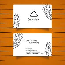 Leaf Business Cards Erikalaguna