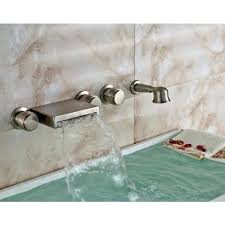 bathtub faucet with hand shower crystal handle
