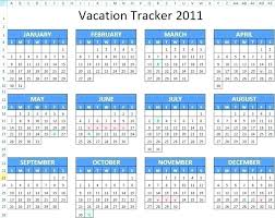 Vacation Calendar Template Excel Arcgerontology Info