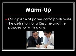 How To Write A Resume? Workshop Presentation Mhs 6340 Career ...