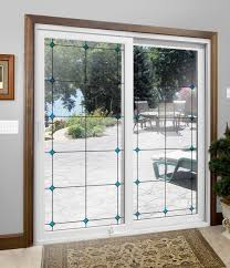 patio door with inspirations art glass