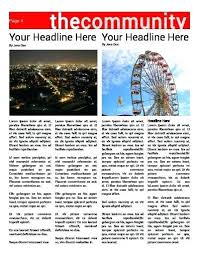 Newspaper Template After Effects Free Newspaper Header Template Sakusaku Co