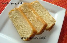 Umas Culinary World Eggless Sour Cream Vanilla Sponge Cake