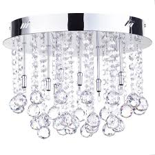 melanie crystal effect chrome flush ceiling light free delivery