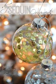 Decorating Clear Christmas Balls Adorable DIY Christmas Ornament Craft Sequins In Clear Glass Fox Hollow