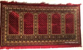 6 person large style turkish prayer rug 62 x 80 square 2 row exact rug may be diffe than shown