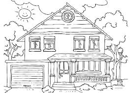 House Coloring Pictures Free Gingerbread House Coloring Pages Tree